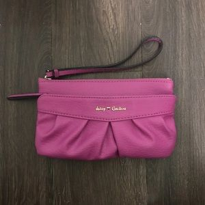 Juicy Couture purse purple wristlet